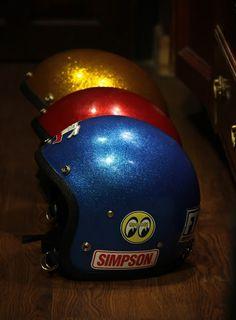 Vintage Metalflakes Helmet