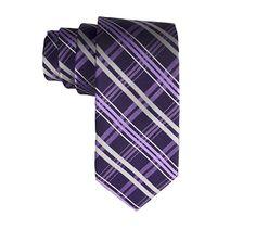 Purple Silk Criss Cross Tie