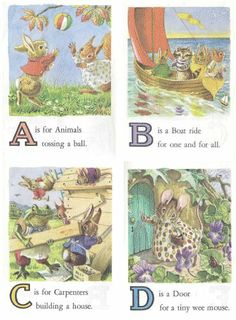 Vintage Animal ABC ~ Alphabet Flash Card Set (Free Printable set A-Z)