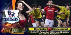 Prediksi Manchester United vs Middlesbrough, Prediksi Bola Manchester United vs Middlesbrough, Manchester United vs Middlesbrough akan bertemu di partai lanjutan Liga Primer Inggris yang rencananya akan digelar pada hari Sabtu, 31 Desember 2016 Pukul 22:00 WIB dan disiarkan secara live dari Old Trafford, Manchester.