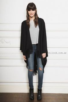 Look casual con Jeans otoño invierno 2016 by Ayres - Notilook - Moda Argentina Casual Chic, Boho, Looking For Women, Casual Looks, Jeans, Ankle Boots, Casual Outfits, Kimono Top, Normcore