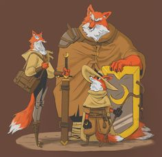 fantasy fox fur photoshop furry Character Design
