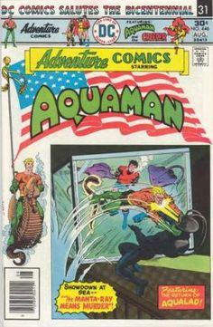 Adventure Comics 446 August 1976 issue DC Comics by ViewObscura Book Cover Art, Comic Book Covers, Comic Book Artists, Comic Books, Dc Comics, Aquaman Comics, Beste Comics, Ocean Master, Superman Family