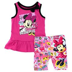 Disney Nickelodeon Character Toddler Girls Tank Top and Shorts Set 3T Pink Minnie Style * For more information, visit image link.