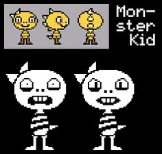 Monster Kid! Despite what a lot of people think, I'm pretty sure the front view is just a way to stylize our view of the spike row.--I do like the idea that they're wearing a ribbon, but this theory's most likely.