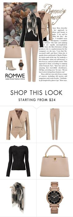 """""""Romwe Scarf"""" by dezaval ❤ liked on Polyvore featuring Helmut Lang, Loro Piana, Denis Colomb, Louis Vuitton, Michael Kors, CHARLES & KEITH, romwe, booties, scarf and ItGirl"""