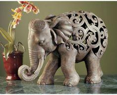 Amazon.com: Anjan the Elephant Jali Sculpture [Kitchen]: Patio, Lawn & Garden