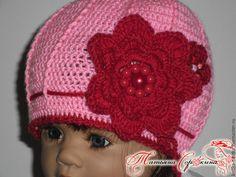 Купить Шапочка - розовый, шапка, шапочка, шапка для девочки, шапочка с брошкой, брошка, красивая шапочка