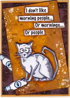 Morning Cat / Tim Holtz - Crazy Cats