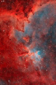 """thedemon-hauntedworld: """"IC 1805: Heart Nebula in Color [source] """""""