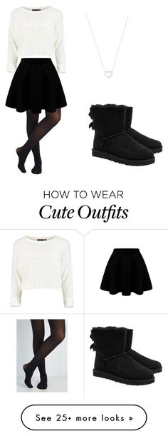 Cute holiday outfit!!!  by andyveliz on Polyvore featuring Tiffany  Co. and UGG Australia