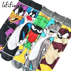cute cartoon men cotton socks looney tunes funny tweety bunny duck long socks teen male crazy cool funky socks amazing fancy sox Price: 9.95 & FREE Shipping #fashion|#health|#beauty|#fitness Daffy Duck, Cartoon Man, Cute Cartoon, Cartoon Rabbit, Looney Tunes Funny, Korean Socks, Tom Y Jerry, Harajuku, Hip Hop