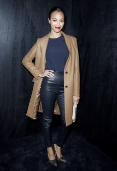 zoe saldana leather skinny - Google Search