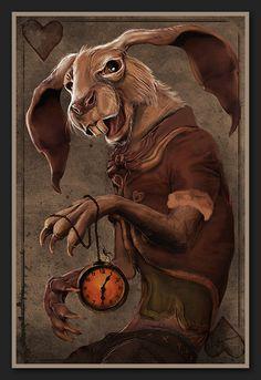 The White Rabbit by Aldana-Digital-Arts.deviantart.com on @deviantART