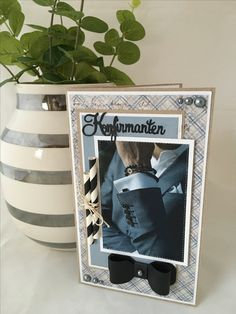Marianne Design, Confirmation, Nice Things, I Card, Cardmaking, Birthday Cards, Scrap, Boys, Frame