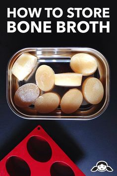 How to Store Bone Broth - Nom Nom Paleo - - Here's my fool-proof method for storing and freezing bone broth. When you freeze it in silicone ice molds, you can pop out a cube whenever you need it! Autoimmun Paleo, Nom Nom Paleo, Paleo Soup, Dieta Paleo, Paleo Pizza, Whole Food Recipes, Soup Recipes, Cooking Recipes, Healthy Recipes