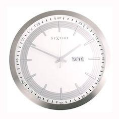 Bol.com €99,95 (€139,-) NeXtime Captain - Klok - Rond - Aluminium - Ø44 cm - Multi