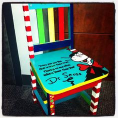 Children's Dr Seuss Chair by HalliesHeART on Etsy, $100.00