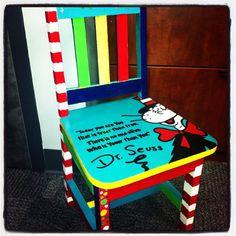 Children's Dr. Seuss Chair on Etsy, $125.00