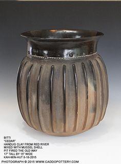Bitti Cedarr Traditional Caddo Jar handmade by Chase Kahwinhut Earles