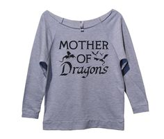 Mother Of Dragons Womens 3/4 Long Sleeve Vintage Raw Edge Shirt