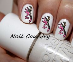 50pc Country Pink Camo Deer Nail Decal Decals Nail Art Nail Stickers Best Price  NC11