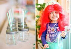 Kindergeburtstag für Mädchen mit Meerjungfrau | mummyandmini.com  mermaid kidsparty  Fotos: Kallie Brynn Photographer