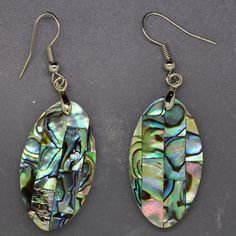Abalone shell earrings hand made Fashion Jewelry   LD00002 #LD #Earring
