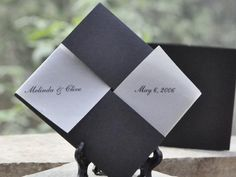 black and white plantable seed wedding favor | Green Bride Guide