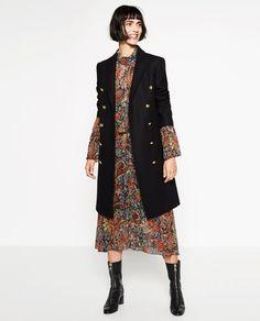 Image 9 of LONG CROSSOVER COAT from Zara