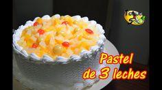 """Pastel de 3 leches en casa """"facilisimo paso a paso""""   Bizcocho y decoración (TOQUE Y SAZÓN) - YouTube Spanish Desserts, Tres Leches Cake, Pretty Cakes, Cakes And More, Fondant, Bakery, Deserts, Birthday Cake, Cupcakes"""