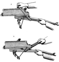 Ancient Chinese repeating crossbow.: