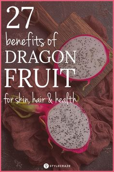 27 Amazing Benefits Of Dragon Fruit For Skin, Hair, And Health If you love fruits, you would want to try out the exotic variety out there.There's one I highly recommend and that's dragon fruit. And let me assure you this fruit doesn't carry any tales from Turmeric Tea Benefits, Lemon Benefits, Matcha Benefits, Dragon Fruit Health Benefits, Coconut Health Benefits, Fruits Photos, Tomato Nutrition, Fruit Nutrition, Stop Eating