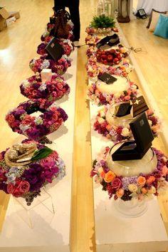 Beautiful rose-themed hantaran trays :):