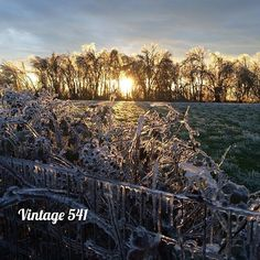 #wintersunset #vintage541 #winterwonderland