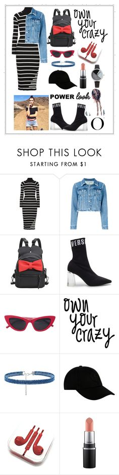 """""""Own Your Crazy"""" by harshleenh77 ❤ liked on Polyvore featuring T By Alexander Wang, Off-White, Versus, Lulu in the Sky, STONE ISLAND and BKE"""