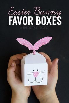 These last-minute Easter Bunny Favor Boxes are a breeze to put together and fun to fill!