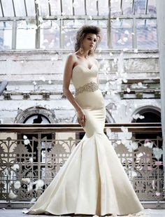 Sweetheart Mermaid Wedding Dress  with Natural Waist in Silk Faced Satin. Bridal Gown Style Number:32223760