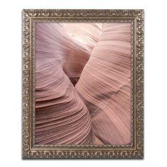 Trademark Fine Art Spiral V Canvas Art by Moises Levy Gold Ornate Frame, Size: 11 x 14, Beige