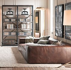Leather day bed... haven. Fulham Leather Sofas