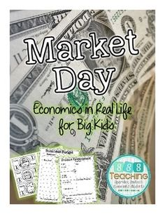 """Great idea for getting kids experience in economics! Students decide what good they want to produce and then there is a market day where students are able to """"sell"""" their products! 3rd Grade Social Studies, Social Studies Activities, Classroom Activities, Classroom Ideas, Teaching Economics, Teaching Kids, Classroom Economy, Third Grade, Fourth Grade"""