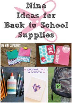 9 ways to make back to school supplies look awesome!