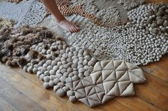 """""""Déambulations"""" par Frédérique Breuillé Design d'intérieur et textile 2012 une…"""