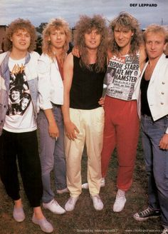 Def Leppard, circa 1987; possibly from a METAL EDGE pinup