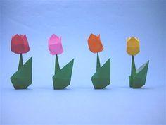 折り紙のチューリップ4 - 創作折り紙の折り方・・・