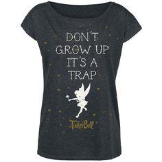 Peter Pan - Tinker Bell - Don't Grow Up  - Front bedruckt - Ausschnitt: U-Boot …