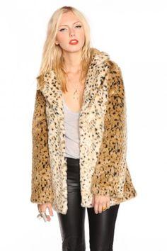 Leopard Fur Coat $148.00