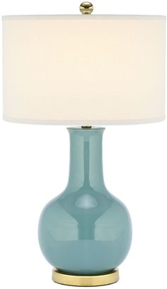Safavieh Ceramic Paris Lamp15 x 27 available in emerald