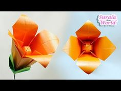 Little flower with 2 strip easy paper craft quick beautiful surala world origami origami lily flower diy tutorial how to make an origami flower blossom ornament decoration what you need paper 15 x mightylinksfo