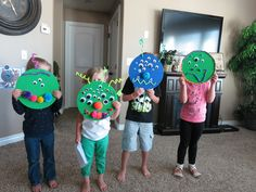 Design your own monster: Monsters University Party activity. Go to www.thelilysage.com for the whole party